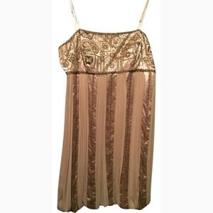 Sue Wong Dresses - Sue Wong Beaded Blush Cocktail Dress